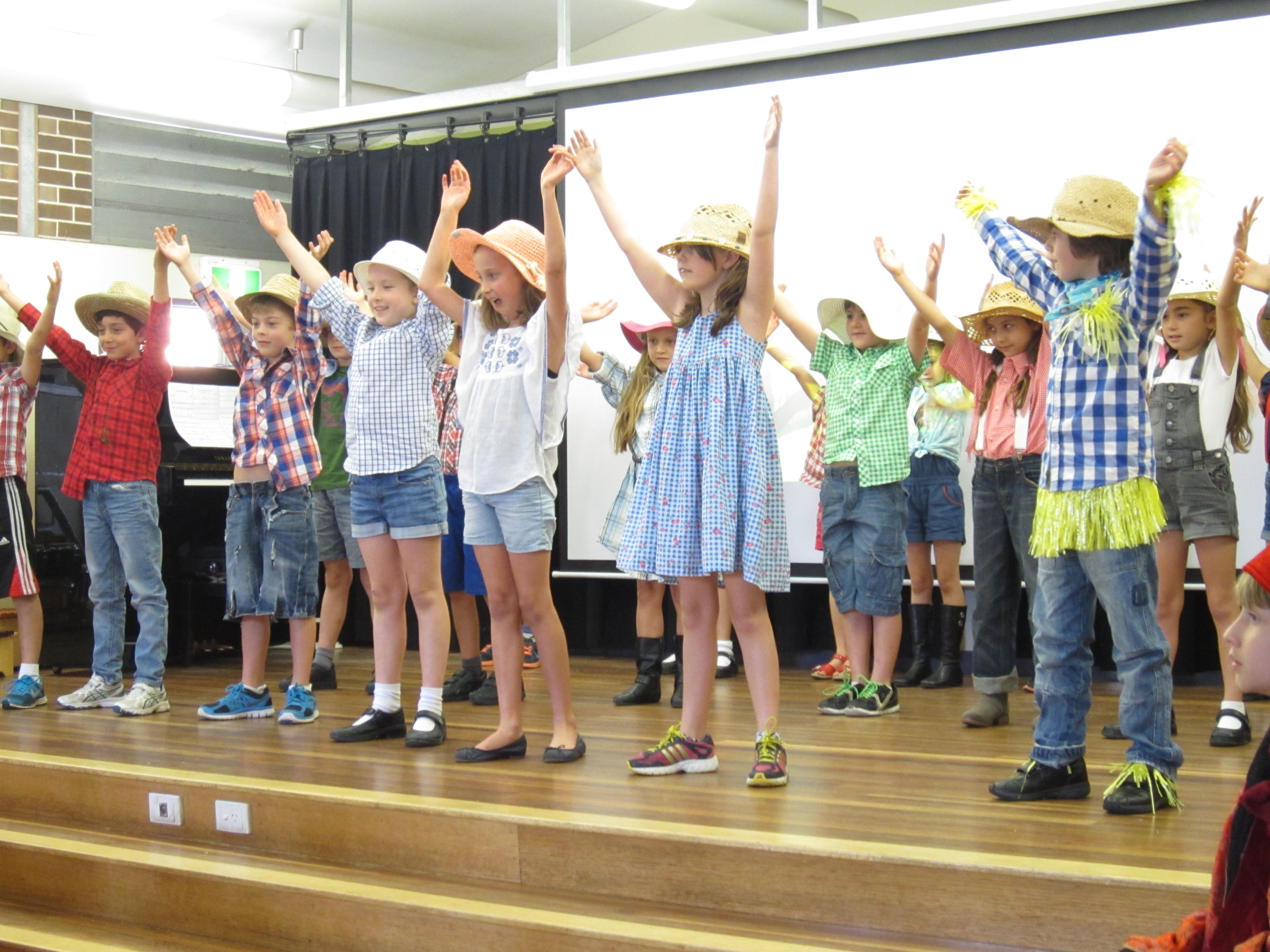 Stage 1 at Music Assembly perform